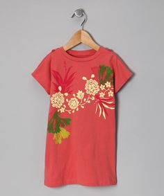 Take a look at this Coral Pink Sea Flower Dress - Infant, Toddler & Girls by Tea on #zulily today!