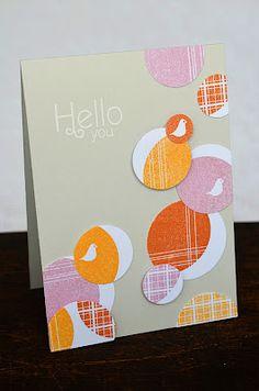 Trendy Tree Tops Hello Card by Jess Witty for Papertrey Ink (April 2012)