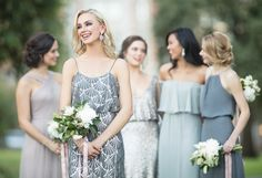 0d5a7077a4d91 mix and match bridesmaid dresses, bridal party, sequin bridesmaid dress,  neutral bridesmaids,