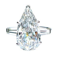 5.01ct F VS1 Pear Diamond Ring