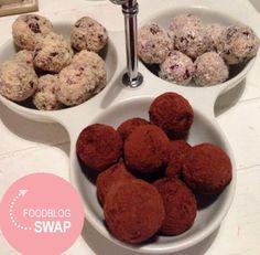 Mijn eerste foodblog swap. Zie mijn site voor deze rauwe amandelballetjes van foodloveandhappiness (foodiemarjan.nl) #foodblogswap #suikervrij #cleanfood #eatclean