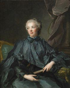 Marie Rose Larland de Kercadio de Rochefort marquise de Nétumières, 1748 by Jean-Marc Nattier