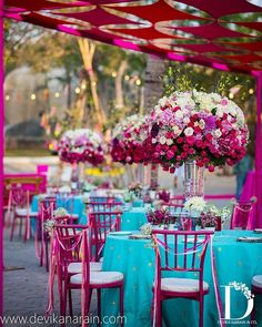 Fabrics do such interesting things to spaces- our barfi canopy extends over the dinner area clad in turq and rani. Wedding Reception Venues, Wedding Seating, Wedding Events, Weddings, Wedding Costs, Budget Wedding, Destination Wedding, Wedding Ideas, Best Wedding Planner