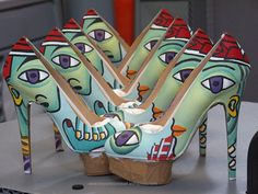 I can't believe how beautiful these shoes are - charlotte olympia hand painted dolly by boyarde