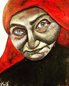 Teresa 40/50 acrylic painting by Szandra Reinecker