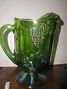 Indiana Glass Lime Green Carnival Pitcher