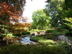 Japanse tuin in de Botanische tuin van Augsburg Germany