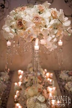 hydrangea, roses, spray roses, and exotic white phalaenopsis orchid stems | BLUSH Botanicals