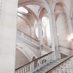 An example of a staircase in The Palace Mythos Academy, Inka Williams, Terrazo, Louvre Paris, Le Palais, Beautiful Places, Beautiful Castles, Stairs, The Originals