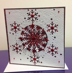 Tartan Snowflakes, Die'sire Create a card, Crafters Companion