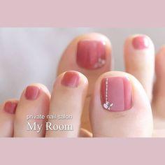 Pedicure Designs, Manicure E Pedicure, Toe Nail Designs, Pretty Toe Nails, Cute Toe Nails, My Nails, Toe Nail Color, Toe Nail Art, Nail Colors