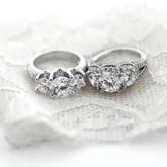Conflict free and eco friendly  three stone engagement rings!