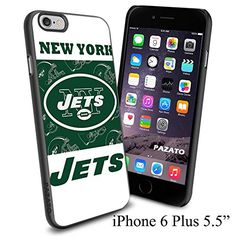 """NFL NY NEW YORK JETS , Cool iPhone 6 Plus (6+ , 5.5"""") Smartphone Case Cover Collector iphone TPU Rubber Case Black Phoneaholic http://www.amazon.com/dp/B00VWGMWOS/ref=cm_sw_r_pi_dp_j3Znvb0D41XXB"""