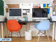 Convert a desk to a two-person desk.