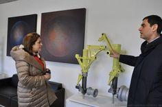 """Presidente Marini visita Fucine umbre. """"Azienda cresciuta grazie ad innovazione e ricerca"""""""