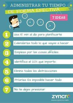 7 ideas para administrar el tiempo.