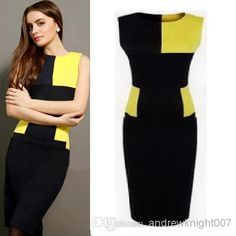Wholesale cheap women dress online, occasion - Find best top quality office ladies dress patchwork short sleeve clothing free shipping women boycon pencil cocktail dress at discount prices from Chinese work dresses supplier - andrewknight007 on DHgate.com.
