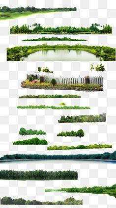 속성,잔디,호수,화원,잔디밭,PS 속성,다이어그램 효과 소재,녹화 Landscape Elements, Landscape Architecture Design, Garden Landscape Design, Photoshop Elementos, Tree Photoshop, Photoshop Rendering, Photography Studio Background, Landscape Drawings, Photoshop Photography