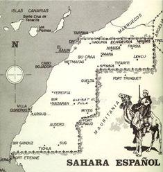 sahara español West Africa, North Africa, Afrika Korps, Western Sahara, Historical Maps, Anthropology, Planer, Bern, Spanish