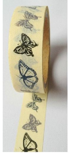 Your place to buy and sell all things handmade, vintage, and supplies Washi Tape Crafts, Paper Crafts, Washi Tapes, Cinta Washi, Papillon Butterfly, Butterfly Print, Decorative Tape, Fabric Tape, Duck Tape