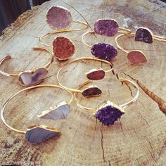 Druzy Bangles by Knot + Bow Designs