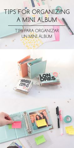 Clear Colours: Tips for organizing a mini album /Tips para organizar un mini álbum                                                                                                                                                                                 More
