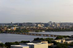 View towards Boston from Cambridge - Harvard Bridge over the Charles River