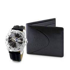 NFL Baltimore Ravens Men's Watch and Wallet Gift Set