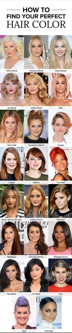 We've rounded up our all favorite hair color ideas from blonde, brunette, red and colorful hair hue of the year via http://hair-fashion-online.blogspot.com/search/label/Color
