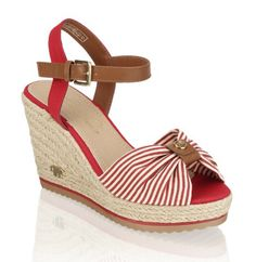 Trend: stripes, red Toms, 2016 Trends, Tom Tailor, Summer Shoes, Espadrilles, Stripes, Wedges, Red, Fashion