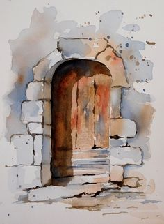 BB-Aquarelle Dans la rue de Port Redon In Harbour Street in Watercolor Architecture, Watercolor Landscape Paintings, Architecture Art, Watercolor Paintings, Watercolour Tutorials, Urban Sketching, Painting Inspiration, Illustration Art, Abstract