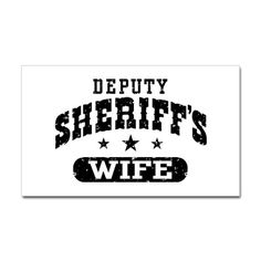 Deputy Sheriff's Wife Decal by snapetees