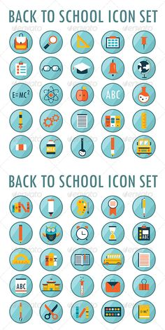 50 School And Education Icons - Web Elements Vectors