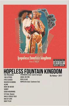 Iconic Album Covers, Music Album Covers, Music Albums, Album Songs, Simple Poster, Minimal Poster, Halsey Poster, Halsey Album, Hopeless Fountain Kingdom