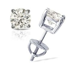 2/3 cttw Round Diamond 4-Prong Stud Earrings Platinum with Screw Backs (H-I Color, I1-I2 Clarity) Banvari. $828.50. All diamonds used in our jewelry are conflict free and 100% in compliance with the Kimberly Code of Conduct.. This product comes with a FREE Luxurious Cherrywood Gift Box.. Free Priority Shipping and 30-day money back guarantee.. All our gold items are responsibly sourced and the majority is made from environmentally processed recycled gold.. Made...