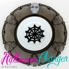 DIY Halloween Charger from dollar store plater