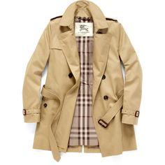 Burberry London Cotton Blend Trench Coat ($1,195) ❤ liked on Polyvore