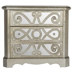 Add this elegant 3-drawer chest to your craft room or master suite to organize cardigans or scrapbooking supplies.   Product: ...