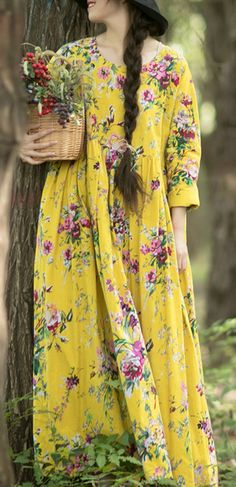 Classy O Neck Cinched Dresses Work Outfits Yellow Long Dress Simple Dresses, Casual Dresses For Women, Nice Dresses, Summer Dresses, Pretty Outfits, Chic Outfits, Beautiful Outfits, Work Outfits, Modest Fashion