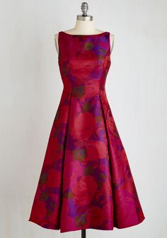 Extraordinary Epicure Dress. Your terrific taste in wine and cuisine matches your affinity for elegance, which is apparent when you sport this magenta A-line from Adrianna Papell! #red #modcloth