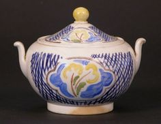 Sugar bowl decorated by Vanessa Bell