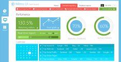 Interfaz Metro en PSD (Metro Style Dashboard UI in PSD)