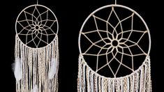 Creative Wall Hanging Ideas That Will Take Your Home To The Next Level/ ... Dream Catcher Tutorial, Wall Hanging Crafts, Take You Home, Creative Walls, Macrame Cord, Van Life, Knots, Dream Catchers, Tie