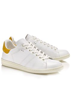 White Leather Bart Trainers