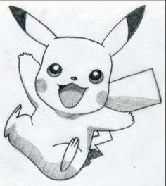 Easy pikachu drawing if this was colored it would be even better #pokemon