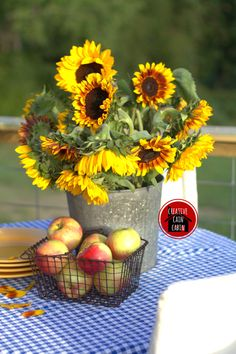Fall | Sunflowers | Apples | Creative Cain Cabin