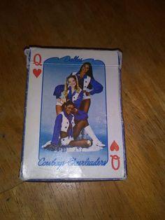 Vintage 1979 Dallas Cowboys NFL Football Cheerleaders Deck of Playing Cards #TransMediaInc #DallasCowboys