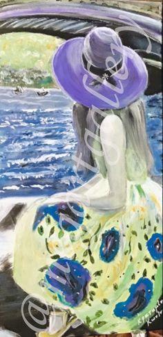 Artist: Kratimenou Konstantina Title: purple hat 30x60dim acrylic price:450euro Fingerprints, Cowboy Hats, Purple, Gallery, Artist, Western Hats, Purple Stuff, Amen, Artists