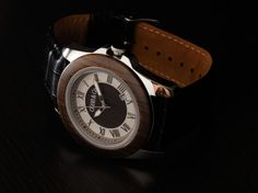 Ebony Leather Wooden Watch - Cobb & Co Watches