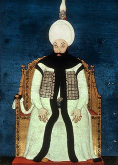 Sultan Abdulhamid I, 1774-1789, portrait from nineteenth century manuscript no 3109, Topkapi Palace Museum, Istanbul, Turkey